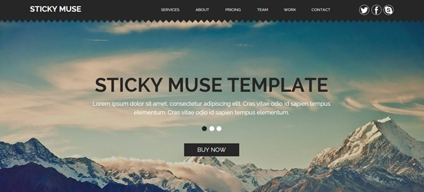 Muse Template | 22 Best Muse Templates From November 2014